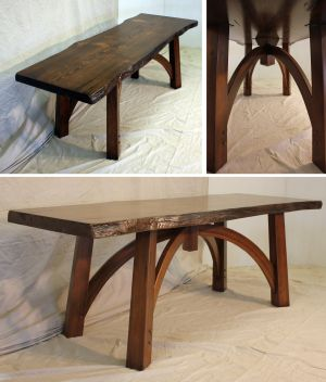 Custom Crafted Communion Table, Stained Fir Live Edge Table Top_Montana .jpg
