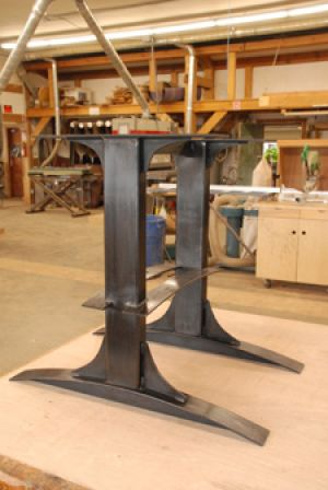 Marvelous ... Live Edge Table Base Leafspring ...